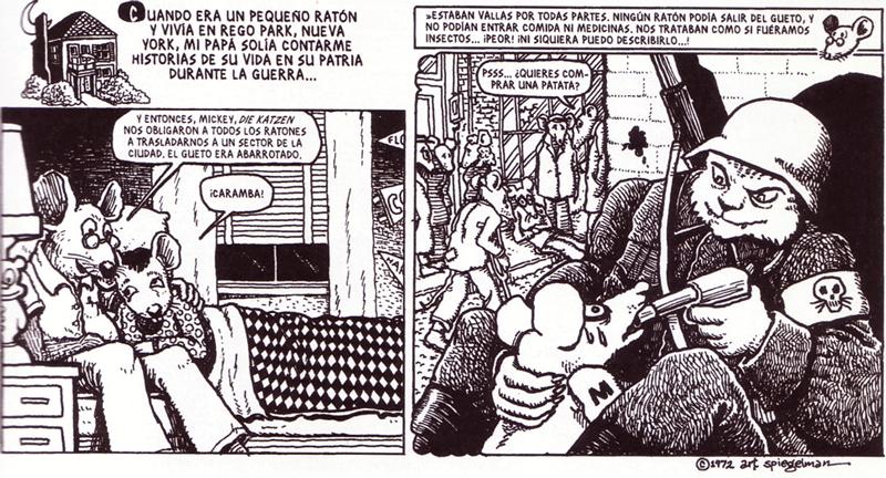 Página interior del cómic Maus