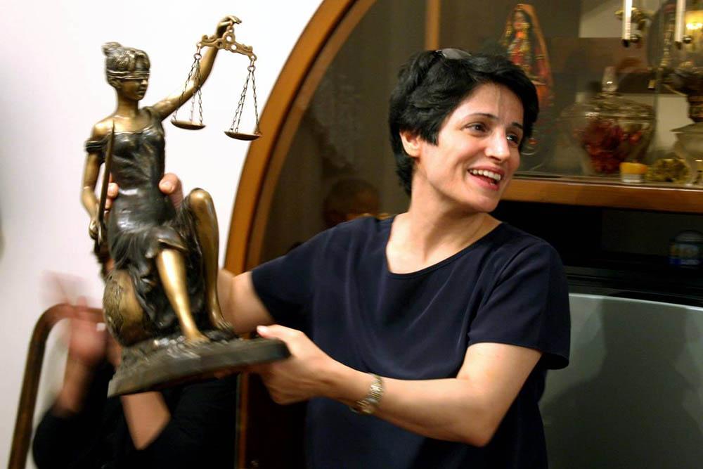 Nasrin Sotoudeh al seu despatx